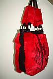 Мод 108. Сумка женская из стриженого меха кролика_цвет алый, фото 5