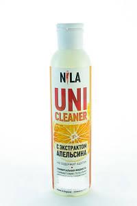 """Жидкость для снятия гель лака """"Апельсин"""" Nila Uni-Cleaner 250 мл."""