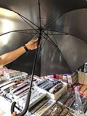 Зонт трость мужской полуавтомат Star Rain черный 8 спиц, фото 3
