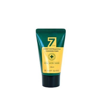 Очищающая пенка для проблемной кожи с центеллой May Island 7 Days Secret Centella Cica Cleansing Foam, 30 мл, фото 2