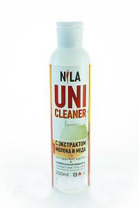 """Жидкость для снятия гель лака """"Молоко и мед"""" Nila Uni-Cleaner 250 мл."""
