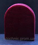 Икона-складень арочный в бархате 15х18 см цвет бордовый,синий, фото 2