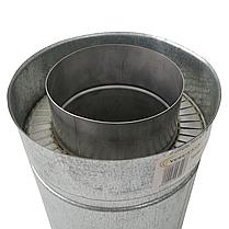 Труба дымоходная сэндвич d 180 мм; 0,5 мм; AISI 304; 25 см; нержавейка/оцинковка - «Версия Люкс», фото 3