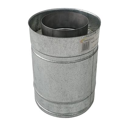 Труба дымоходная сэндвич d 230 мм; 0,5 мм; AISI 304; 25 см; нержавейка/оцинковка - «Версия Люкс», фото 2