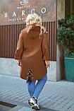 Женский стильный кардиган пальто с капюшоном джинс коттон размер батал: 52-54,56-58,60-62,64-66, фото 5