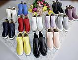 Зимние кожаные ботинки Ankle slip (разные цвета), фото 2