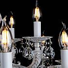 Классическая люстра-свеча на 15 лампочек СветМира золотая патина VL-L41421/10+5 (WT+GD), фото 2
