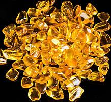 Камень натуральный. Цитрин, крошка, фракция 7-13 мм. Уп. 20 г