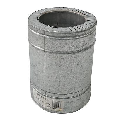 Труба дымоходная сэндвич d 150 мм; 0,8 мм; AISI 304; 25 см; нержавейка/оцинковка - «Версия Люкс», фото 2