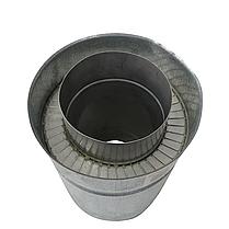 Труба дымоходная сэндвич d 220 мм; 0,8 мм; AISI 304; 25 см; нержавейка/оцинковка - «Версия Люкс», фото 3