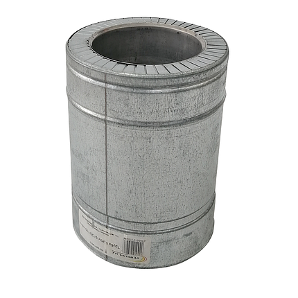 Труба дымоходная сэндвич d 220 мм; 0,8 мм; AISI 304; 25 см; нержавейка/оцинковка - «Версия Люкс», фото 2