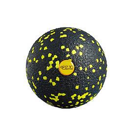 Массажный мяч 4FIZJO EPP Ball 08 черно/желтый
