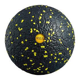 Массажный мяч 4FIZJO EPP Ball 12 черно-желтый