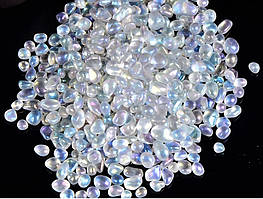 Камень натуральный. Спектролит (Лабрадорит), крошка, фракция 5-9 мм. Уп. 20 г