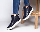 Женские лаковые ботинки хайтопы демисезонные, фото 3