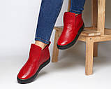 Женские лаковые ботинки хайтопы демисезонные, фото 5