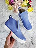 Женские лаковые ботинки хайтопы демисезонные, фото 8