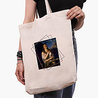 Эко сумка шоппер белая Мария Магдалина (Mary Magdalene) (9227-1413-1)  экосумка шопер 41*39*8, фото 1