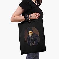 Эко сумка шоппер черная Тарас Шевченко (Taras Shevchenko) (9227-1427-2)  экосумка шопер 41*35 см , фото 1