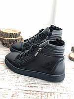 Кожаные Детские ботинки 7030 ч/к размеры 32-39, фото 1