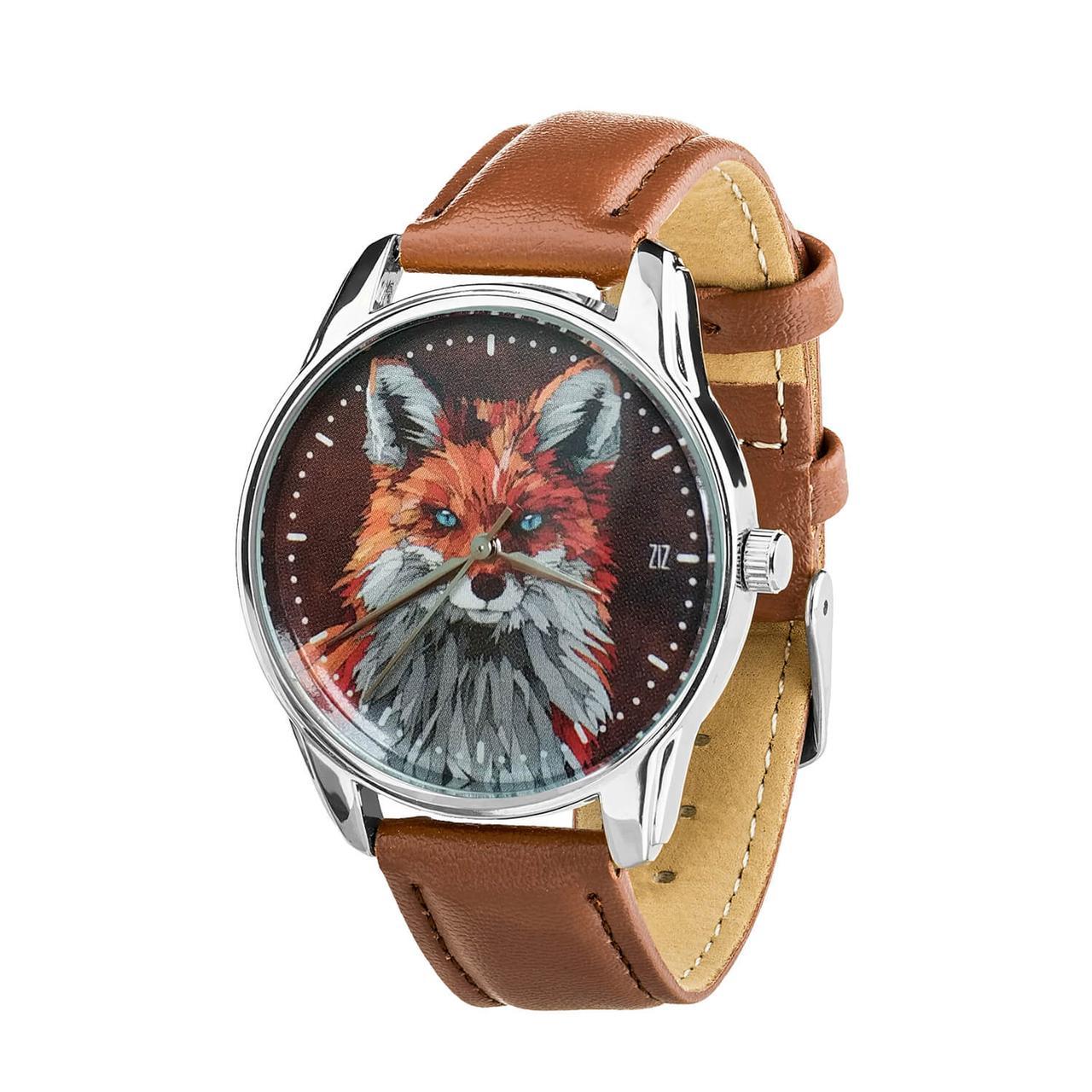 Часы наручные ZIZ Лисица (кофейно - шоколадный, серебро) + дополнительный ремешок