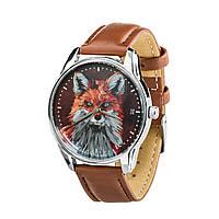 Часы наручные ZIZ Лисица (кофейно - шоколадный, серебро) + дополнительный ремешок, фото 1