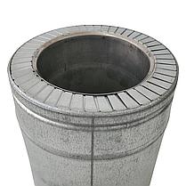 Труба дымоходная сэндвич d 150 мм; 1 мм; AISI 304; 25 см; нержавейка/оцинковка - «Версия Люкс», фото 3