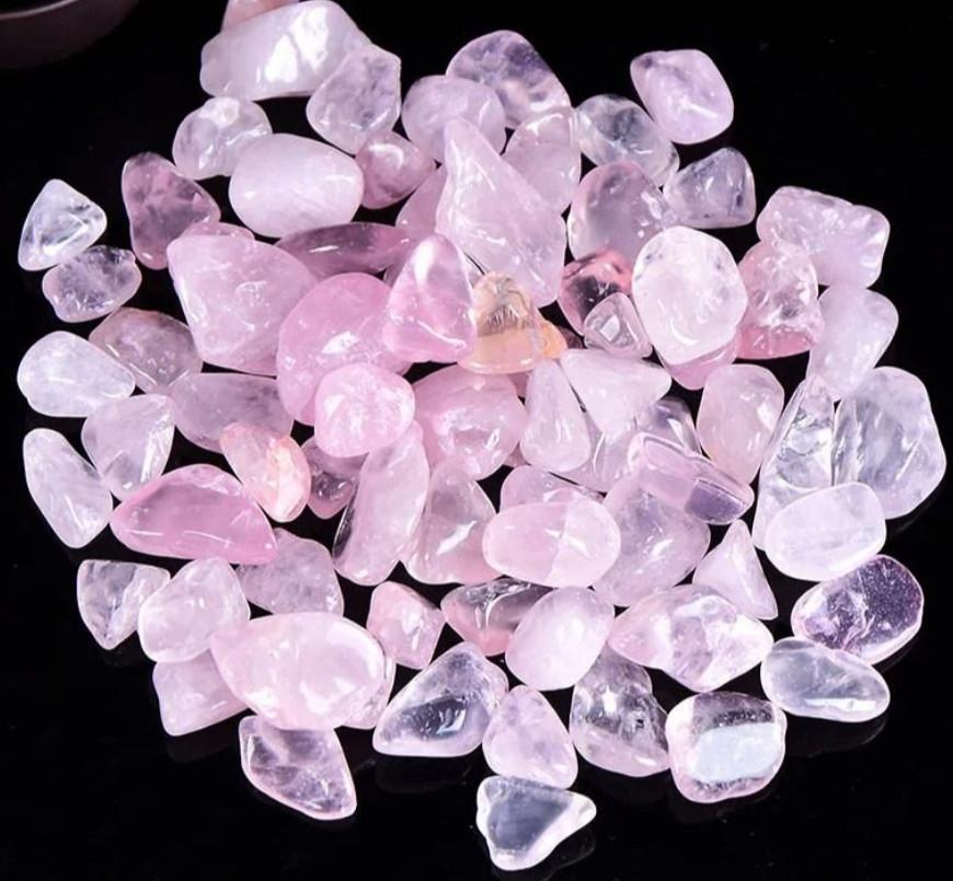 Камень натуральный розовый кварц, фракция размер 9-15, 30г