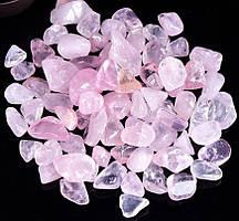 Камень натуральный. Розовый кварц, крошка, фракция 9-15 мм. Уп. 20 г