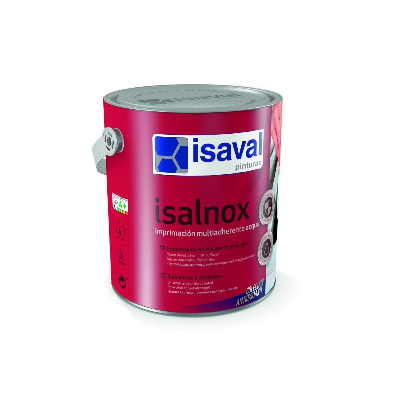 Універсальний акриловий мультіґрунт для різних поверхонь Ізалнокс Аква isaval 4л≈40м²/шар