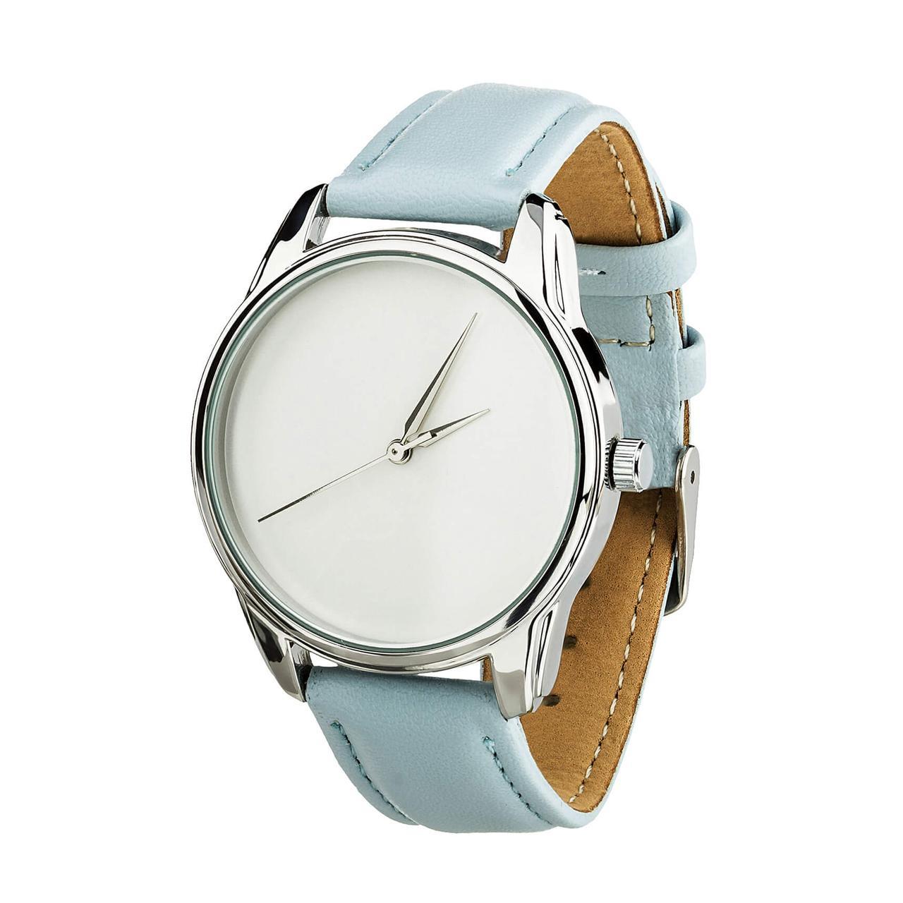 Часы наручные ZIZ Минимализм (ремешок нежно - голубой, серебро) + дополнительный ремешок