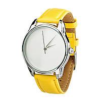 Часы наручные ZIZ Минимализм (ремешок лимонно - желтый, серебро) + дополнительный ремешок, фото 1