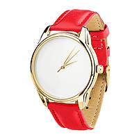 Часы наручные ZIZ Минимализм (ремешок маково - красный, золото) + дополнительный ремешок, фото 1