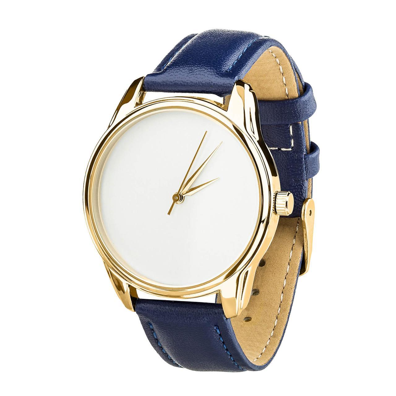 Часы наручные ZIZ Минимализм (ремешок ночная синь, золото) + дополнительный ремешок
