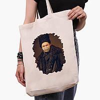 Эко сумка шоппер белая Тарас Шевченко (Taras Shevchenko) (9227-1427-1)  экосумка шопер 41*39*8 см , фото 1