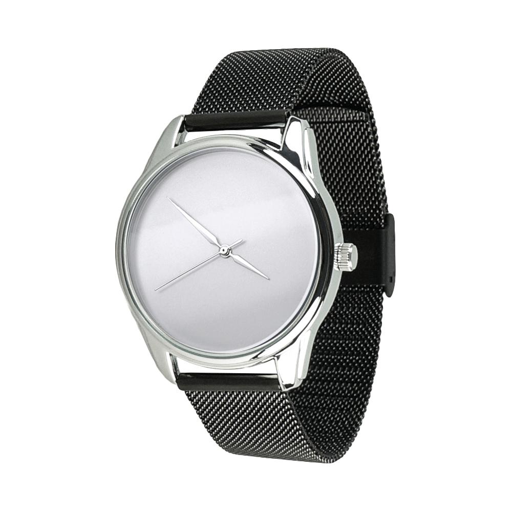 Часы наручные ZIZ Минимализм (ремешок из нержавеющей стали черный) + дополнительный ремешок