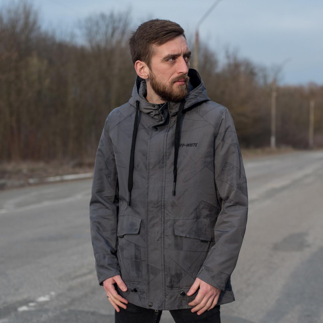 Чоловіча демісезонна куртка OFF-White, сірого кольору