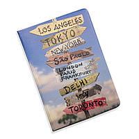Обложка для документов 5 в 1 Города ZIZ на паспорт, для прав, для автодокументов