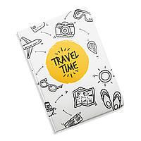 Обложка для документов 5 в 1 Время путешествий ZIZ на паспорт, для прав, для автодокументов, фото 1