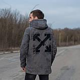 Чоловіча демісезонна куртка OFF-White, сірого кольору, фото 2