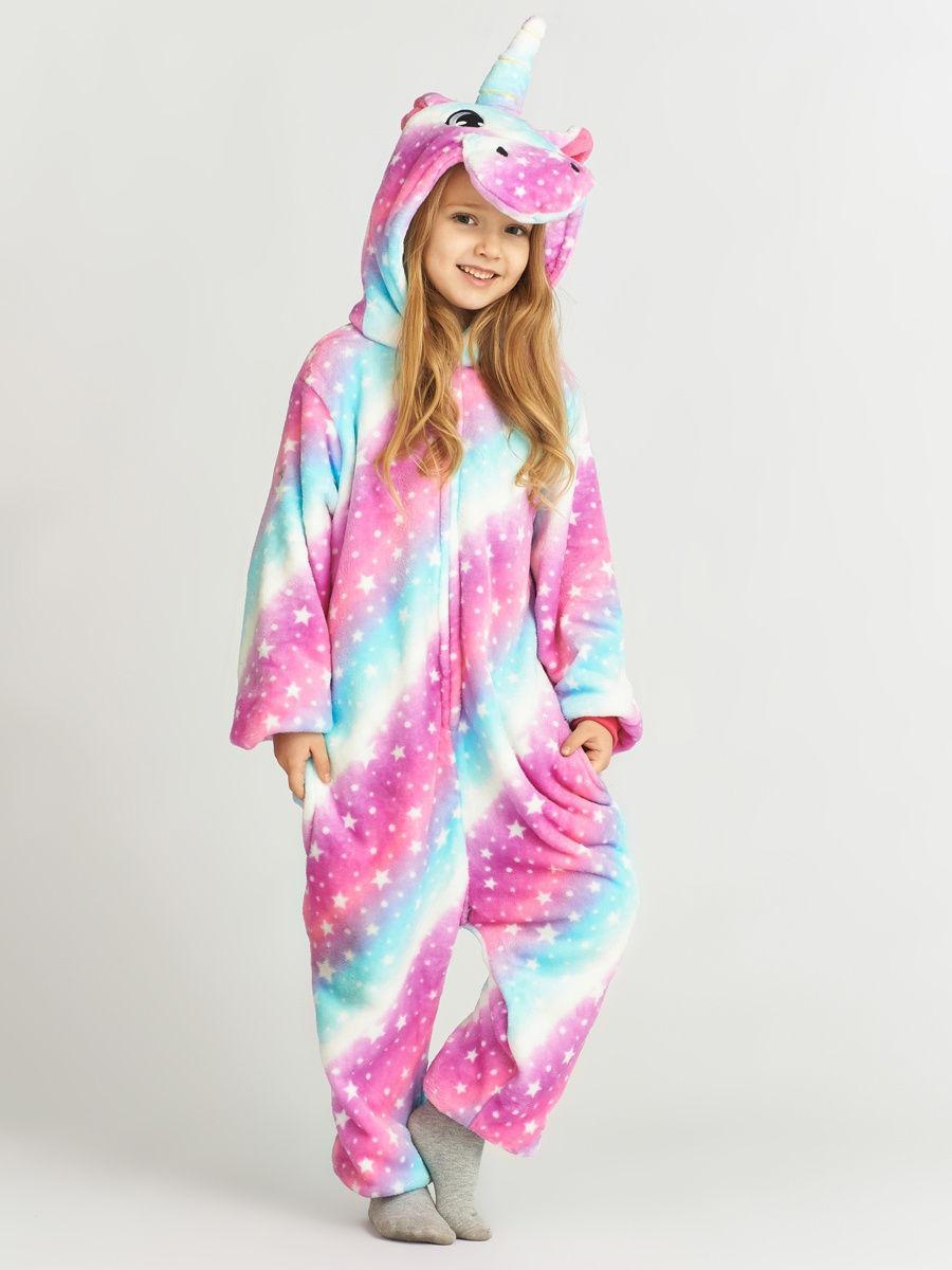 Піжама кигуруми для дітей Єдиноріг рожево-блакитний