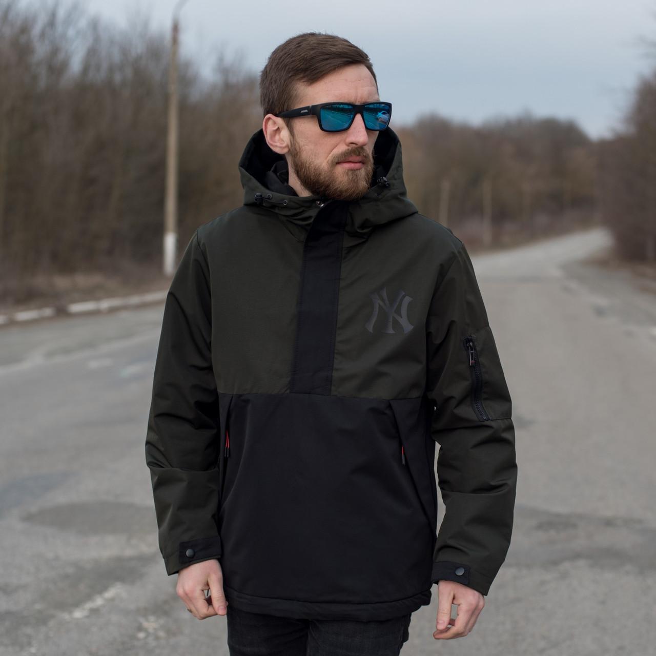 Чоловіча демісезонна куртка New York, комбінована.