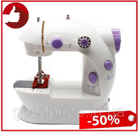 Портативная мини швейная машинка 4 в 1—12 функций mini Sewing Machine с адаптером 220 и педалью