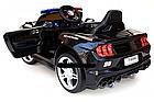 Електромобіль Поліція Ford Mustang Police MP3, дисплей, порт USB, порт SD Card, світлові ефекти, C2007, фото 4