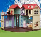 Будиночок для флоксовых тварин, меблі, фігурки тварин в комплекті Happy family 012-10, фото 2