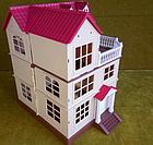Будиночок для флоксовых тварин, меблі, фігурки тварин в комплекті Happy family 012-10, фото 5