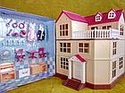 Будиночок для флоксовых тварин, меблі, фігурки тварин в комплекті Happy family 012-10, фото 6