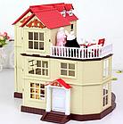 Будиночок для флоксовых тварин, меблі, фігурки тварин в комплекті Happy family 012-10, фото 7