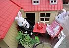 Будиночок для флоксовых тварин, меблі, фігурки тварин в комплекті Happy family 012-10, фото 8