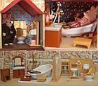 Будиночок для флоксовых тварин, меблі, фігурки тварин в комплекті Happy family 012-10, фото 9